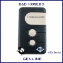 B&D 4335EBD 3 button garage remote