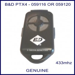 B&D PTX 4 button garage remote
