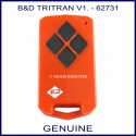 B&D  Tritran V1 red remote 4 black buttons- model 62731