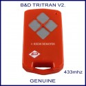 B&D  Tritran V2 red remote 4 grey buttons - model 62874