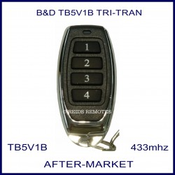 B&D  Tritran TB5 V1 4 black button alternative remote