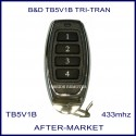B&D  TB5V1 black button alternative remote