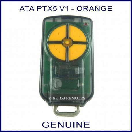 ATA PTX 5 V1 orange button garage remote