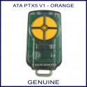 ATA PTX 5 V1 4 orange button black garage remote