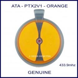 ATA PTX2 V1 2 orange button garage remote