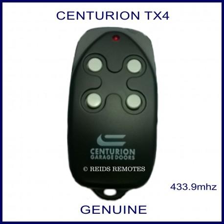 Centurion garage doors black TX4 remote - 4 white buttons
