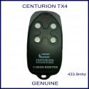 Centurion Garage Doors TX4 - black garage remote 4 white buttons