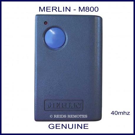 Merlin M800 -  1 round blue button garage remote control