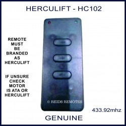 HERCULIFT HC102 slim black 3 button remote