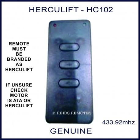 HERCULIFT HC102 slim black 3 button remote