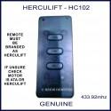 HERCULIFT HC102 slim black 3 button garage door remote