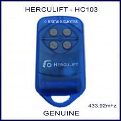 HERCULIFT HC103 4 round grey button blue garage door remote