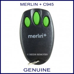 Merlin + C945 - 3 green button garage remote