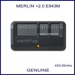 Merlin +2.0 E943M - 3 button garage remote