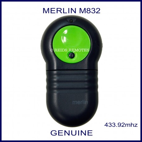 Merlin M832 large green and black garage remote