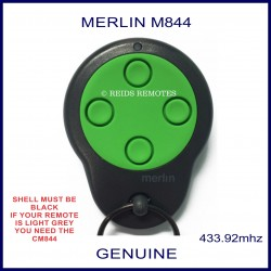 Merlin M844 round green and black garage remote