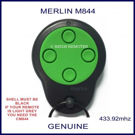 Merlin M844 round green and black garage remote