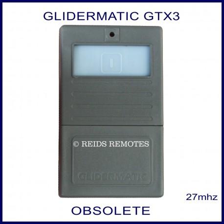 Glidermatic GTX3 - dark grey garage remote blue button
