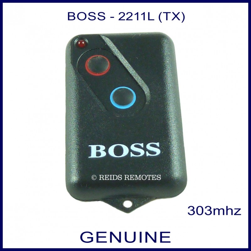 Boss Ht4 2211l 303mhz Blue Amp Red Button Black Garage Door