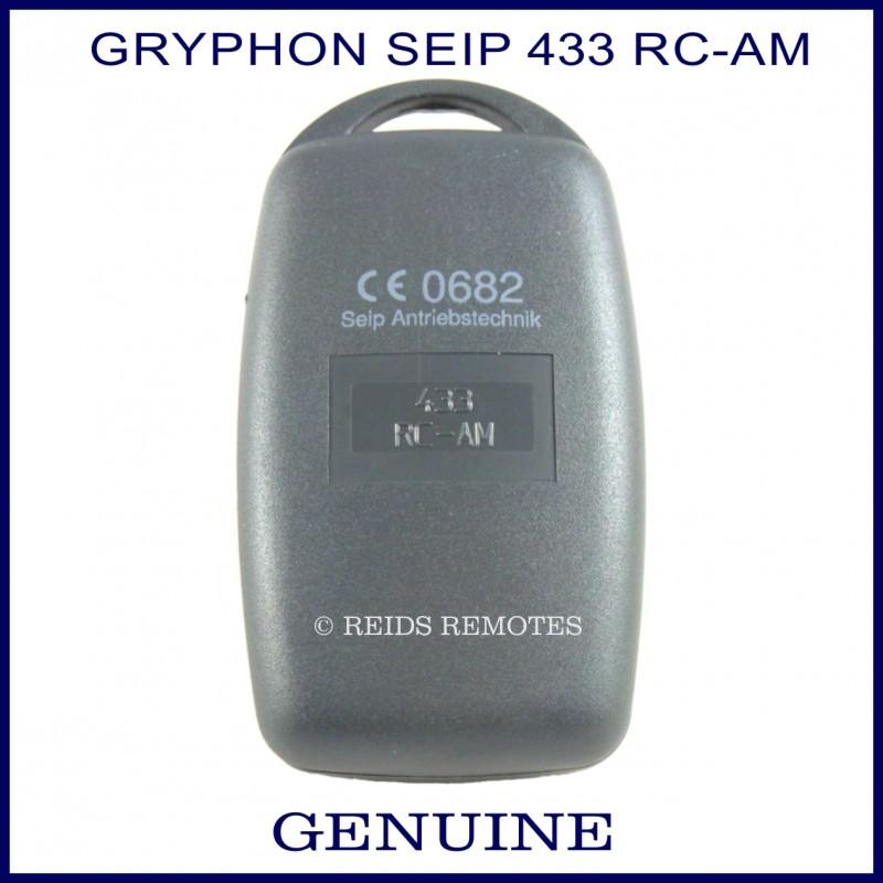Seip Gryphon 433 Rc Am Black 4 Button Garage Door Remote