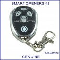 Smart Openers Chrome 4 button garage door remote control