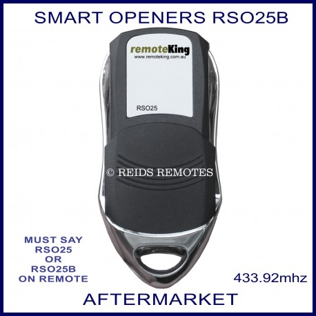 Smart Openers Compatible 4 Button Garage Door Remote Control Rso25b