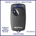 Nice FLO1R-S 1 button black garage door & gate remote control