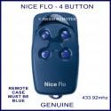 Nice Flo4 - 4 button blue garage door & gate remote control