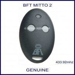BFT Mitto 2 gate remote white buttons