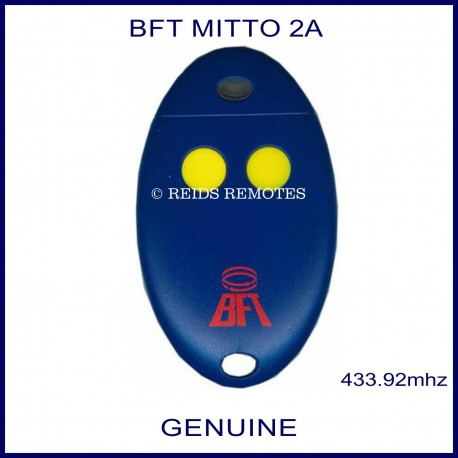 BFT Mitto 2 yellow button blue egg shaped swing or sliding gate remote