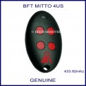 BFT Mitto 4 red button swing or sliding gate remote control