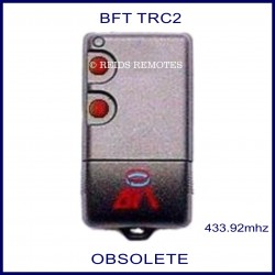 BFT TRC2 grey gate remote 2 red buttons