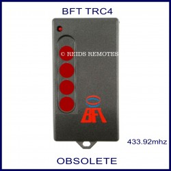 BFT TRC4 grey gate remote 4 red buttons