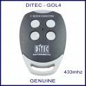 Ditec GOL 4 white button genuine swing & sliding gate remote control