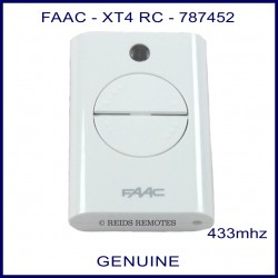 FAAC XT4 433 RC 787452 white 4 button gate remote