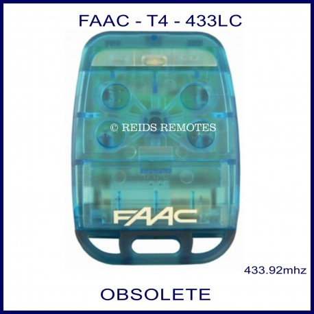 FAAC T4 433 LC blue 4 button gate remote