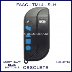 FAAC TML2 433 SLH navy blue 4 blue button gate remote control