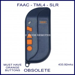 FAAC TML4 433 SLR  blue gate remote with 4 orange button