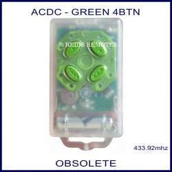 ACDC clear case garage remote 4 green buttons