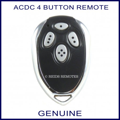 ACDC 1R garage remote 4 chrome buttons