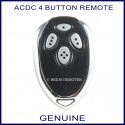 ACDC 1R garage door remote control 4 chrome buttons