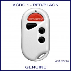 ACDC white garage remote 1 red button & 3 black buttons