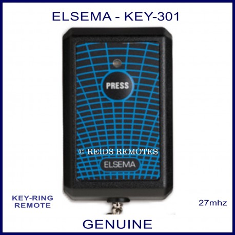 Elsema KEY301, single button 27mhz key ring size remote control