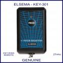 Elsema KEY-301, single button 27mhz key ring size garage & gate remote control
