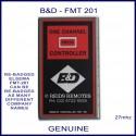 B&D FMT 201, 1 button black & red 27mhz garage door remote control