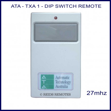 Ata Txa1 Grey 27mhz Garage Door Amp Gate Remote With 1 Large