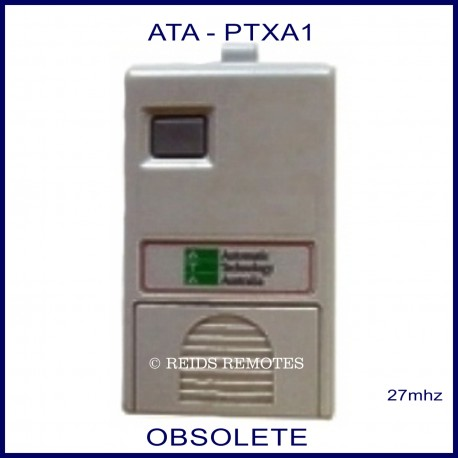 ATA PTXA1, 1 small grey button grey 27mhz garage door & gate remote control