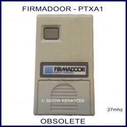FIRMADOOR PTXA1, 1 small grey button grey 27mhz garage door remote control
