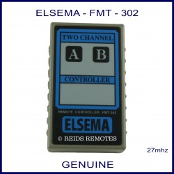 Elsema FMT-302, two channel 27mhz garage door & gate remote control