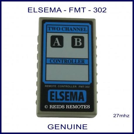 Elsema FMT-302, two channel 27mhz garage door & gate remote control